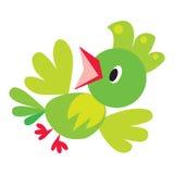 Children vector illustration of funny bird or Stock Photo