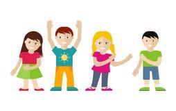Children Vector Illustration Set in Flat Style Stock Images