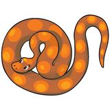 Children vector illustration of snake. Stock Image