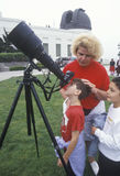 Children viewing a solar eclipse Stock Images