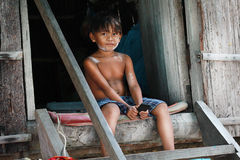 Children in the village. Royalty Free Stock Photos