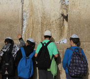 Children  at the Wailing wall Royalty Free Stock Image