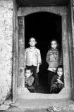 The children wait for their parents farming Stock Photo