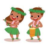 Little hula dancers Stock Image