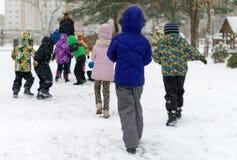 Children on walk. Royalty Free Stock Photos