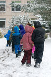 Children on walk. Royalty Free Stock Image