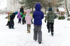 Children on walk. Royalty Free Stock Photography