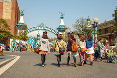 Children on the walk in Tokyo Disney sea. Stock Image