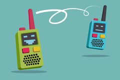 Free Children Walkie-talkies: Cartoon Cell Phone For Kids Stock Photography - 185706092