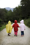Children walking Royalty Free Stock Images