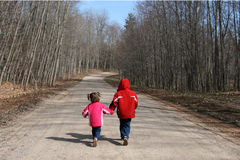 Children Walking Royalty Free Stock Photo