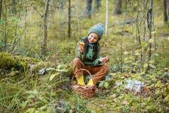 Gathering of mushrooms. Stock Photography