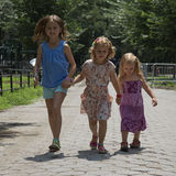 Children walking in a Park New York USA Royalty Free Stock Photography
