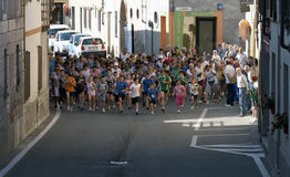 Children walking race Stock Photos