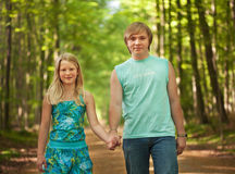 Children walking together Royalty Free Stock Photo