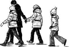 Children  walking Stock Images