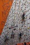 Children Wall Climbing Activity Royalty Free Stock Photography