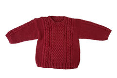 Children warm sweater, isolated on white Royalty Free Stock Photo