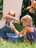 Children wash Royalty Free Stock Photography