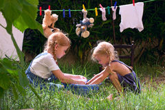Children wash Stock Image