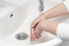 Children wash their hands Royalty Free Stock Images