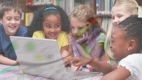 Children watching on a laptop