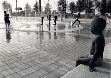 Children at a water park