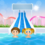 Children in water park Royalty Free Stock Images