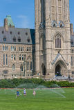 Children and Water Sprinklers in Ottawa Royalty Free Stock Photography
