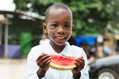 Children and watermelon. Royalty Free Stock Image