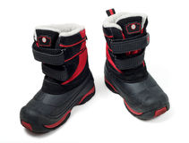 Children waterproof winter boots Royalty Free Stock Photo