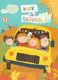 Children on the way to school Royalty Free Stock Photos