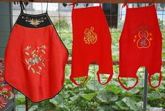 Children wear clothes. ,Handicrafts,China's traditional costume Stock Photography