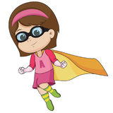 The children wear the hero to defeat the villain.vector and illustration. Stock Image