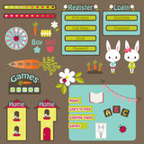 Children website vector icons set Royalty Free Stock Photo