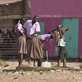 Children at well in South Sudan Stock Images