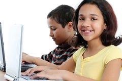 Children On White Background Royalty Free Stock Photos