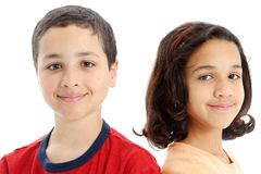 Children On White Background Royalty Free Stock Photos