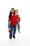 Children On White Background Stock Photography