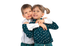 Children on a white background Stock Photo