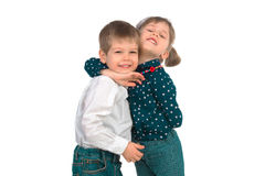 Children on a white background Stock Photography