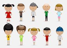 Children on white background. Set of different children on white background Stock Photo
