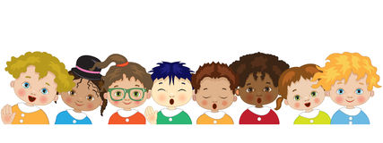 Children on white background Royalty Free Stock Photography