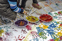 Children who paints-2 Royalty Free Stock Photo