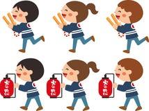 Children who patrol fire.Vector illustration.Cartoon character. stock illustration