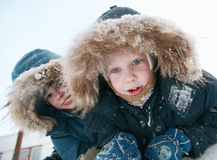 Children in the winter Stock Photography