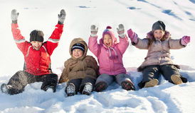 Children in the winter Royalty Free Stock Photo