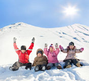Children in the winter Stock Photos