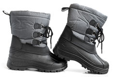 Children winter boot. On a white background Stock Image