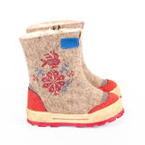 Children winter boots Royalty Free Stock Photos